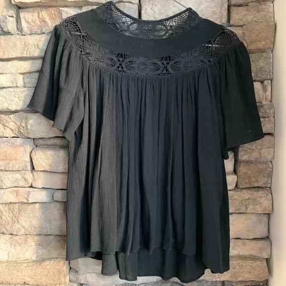 Zara | cotton crochet top